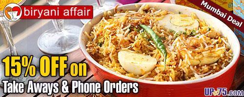Biryani Affair offers India