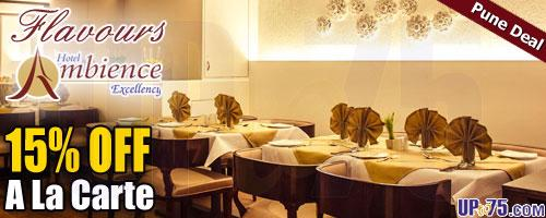 Flavours Restaurant Hotel Ambience Executive offers India