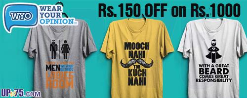 Wear Your Opinion offers India