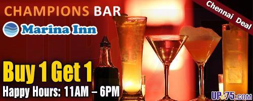 Champions Bar at Marina Inn offers India