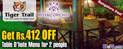 Tiger Trail Restaurant at Royal Orchid Hotel offers India
