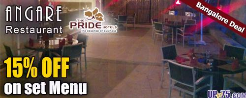 Angare Restaurant at The Pride Hotel offers India