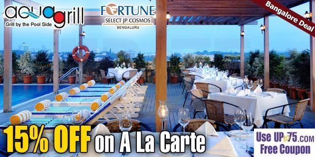 Aqua Grill at Fortune Select JP Cosmos offers India