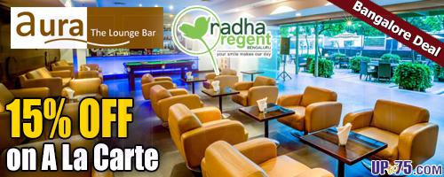 Aura The Lounge Bar at Radha Regent Hotel offers India