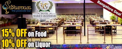 Strona The Pool Side Bar at Hotel Marks Grandeur offers India