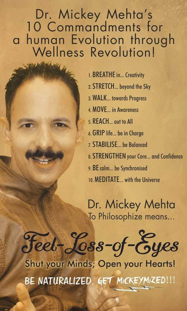 Dr Mickey Mehta offers India