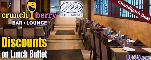 Crunch Berry Bar Lounge Hotel Mirage offers India