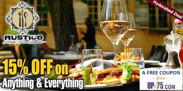 Rustico multi cuisine restaurant offers India