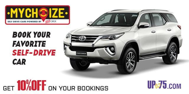 Mychoize Offers Online Self Drive Car Rentals Coupons Discounts Prices 2020