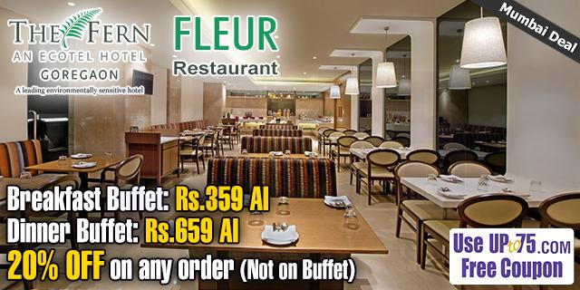 Fleur Restaurant at The Fern Goregaon offers India