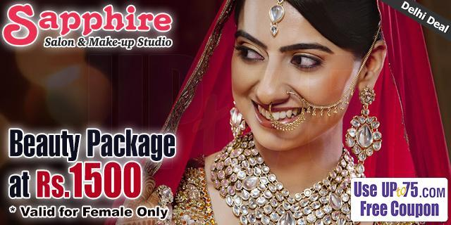 Sapphire Salon and Make Up Studio offers India