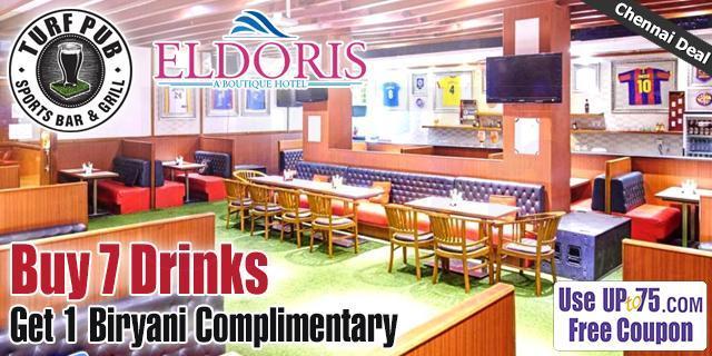 Turf Pub at Eldoris Hotel offers India