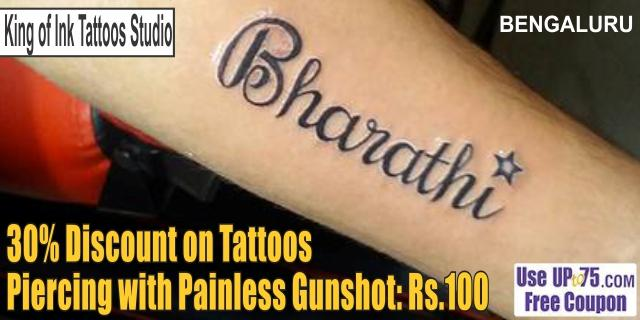 King of Ink Tattoos Studio offers India