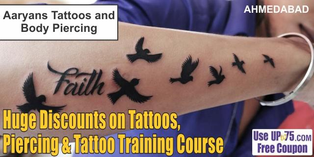 Aaryans Tattoos and Body Piercing offers India