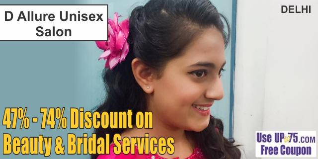 D Allure Unisex Salon offers India