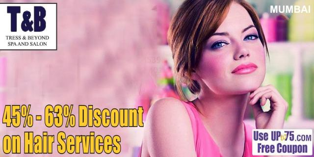 Tress and Beyond Spa and Salon offers India
