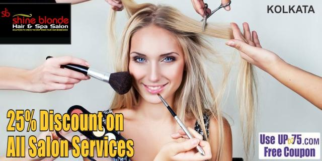 Shine Blonde Hair and Spa Salon offers India