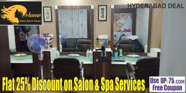 Volume Salon and Spa offers India
