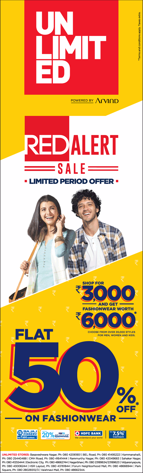 Unlimited offers India