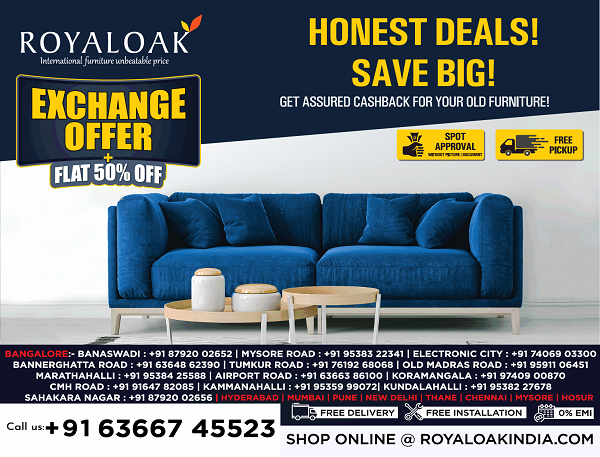 Royal Oak offers India
