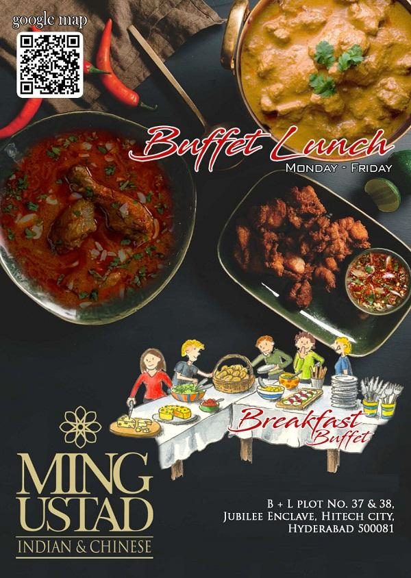 Ming Ustad Restaurant at B Plus L Hotel offers India