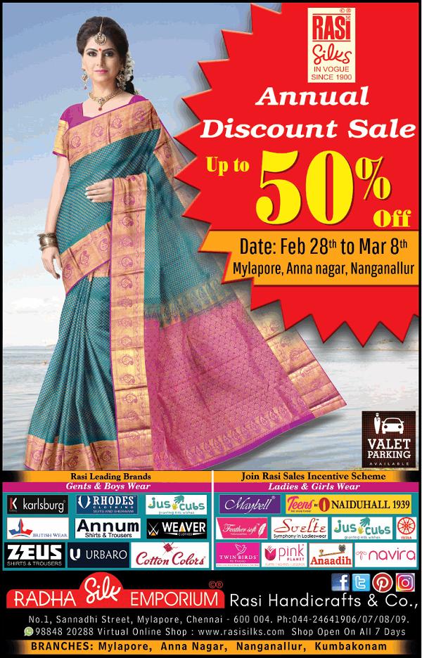 Rasi Silks offers India