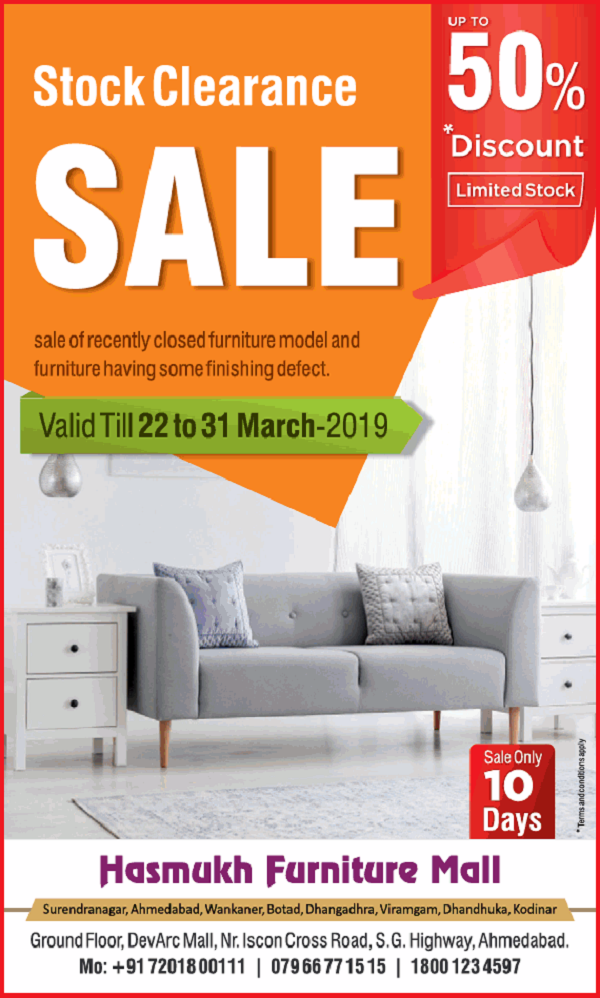 Hasmukh Furniture Mall offers India