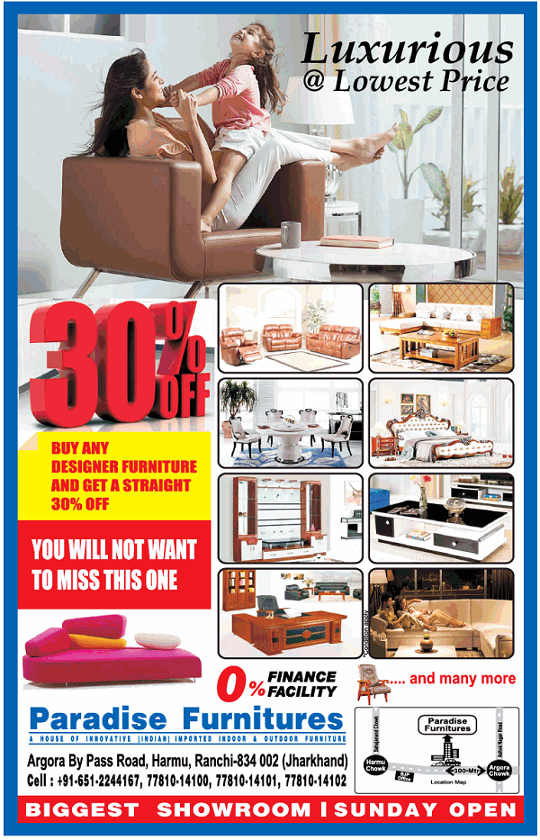 Paradise Furniture offers India