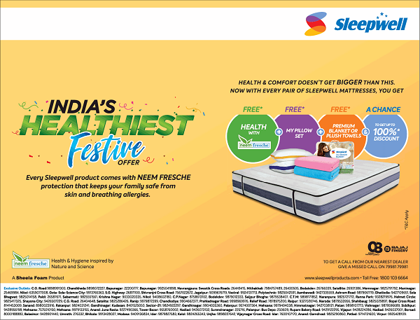 Sleepwell offers India