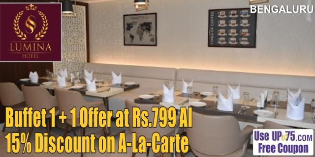 Saaras Grill n Spice at SS Lumina Hotel offers India