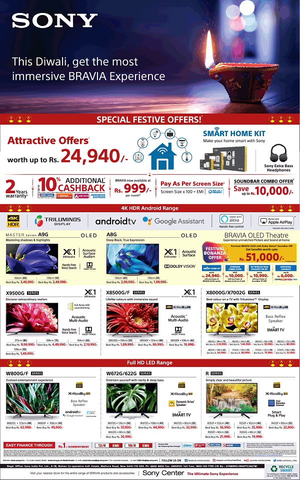 Sony Center offers India