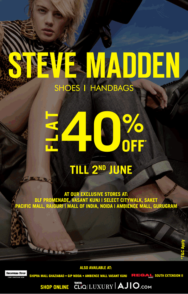 Steve Madden offers India