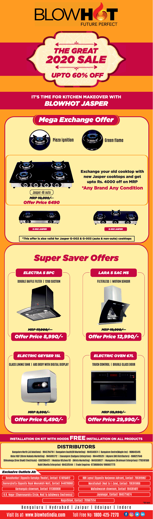 Blow Hot offers India