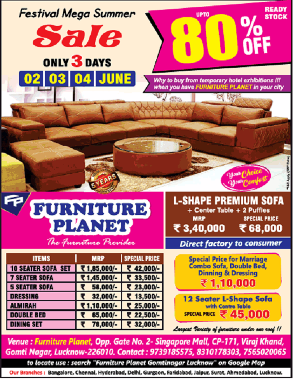 Furniture Planet offers India