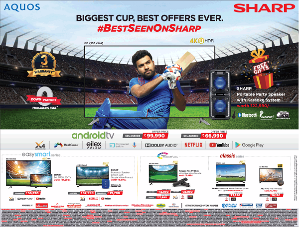 Sharp offers India