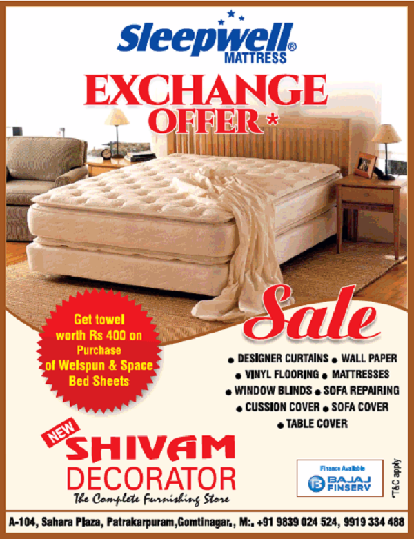 Sleepwell offers India