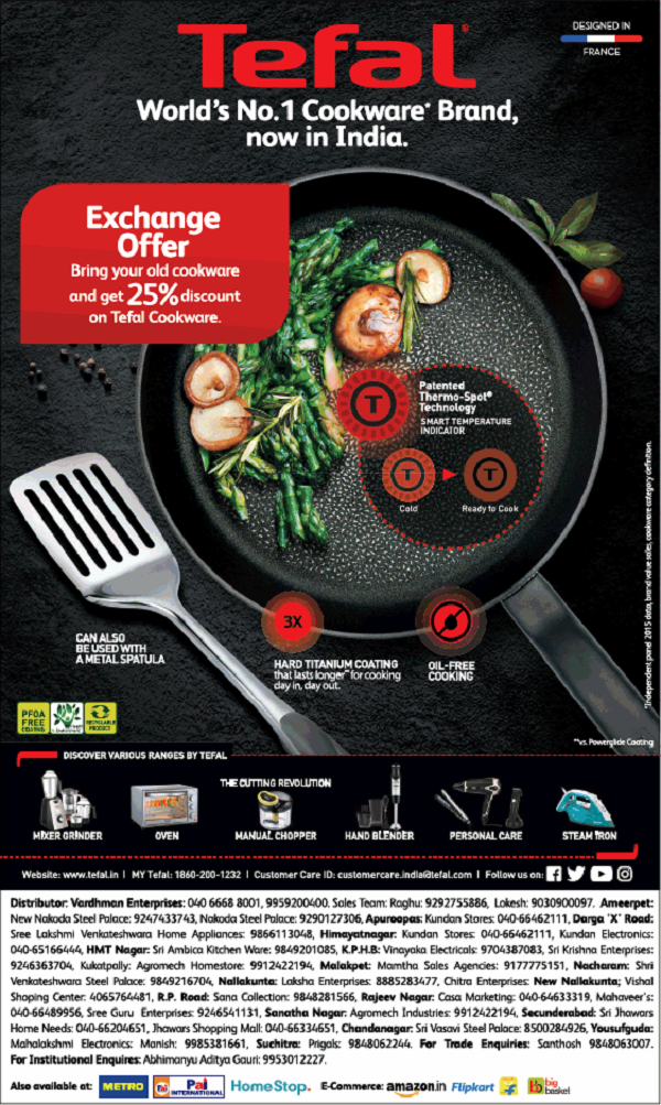 Tefal offers India