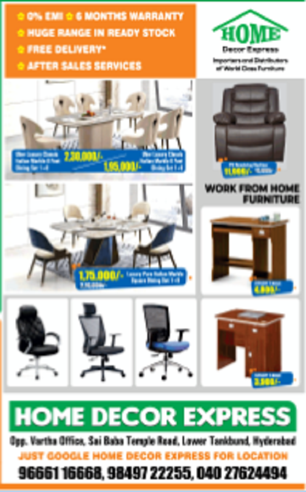 Home Decor Express Hyderabad Furniture Stores Sales Offers Numbers 2020