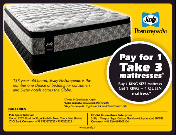 Sealy offers India