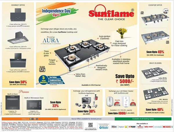 Sunflame offers India