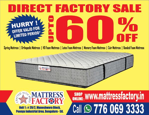 Mattress Factory offers India