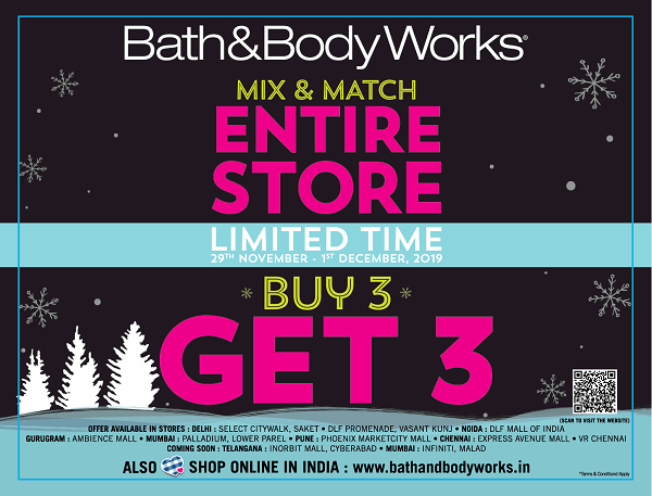 Bath and Body Works offers India