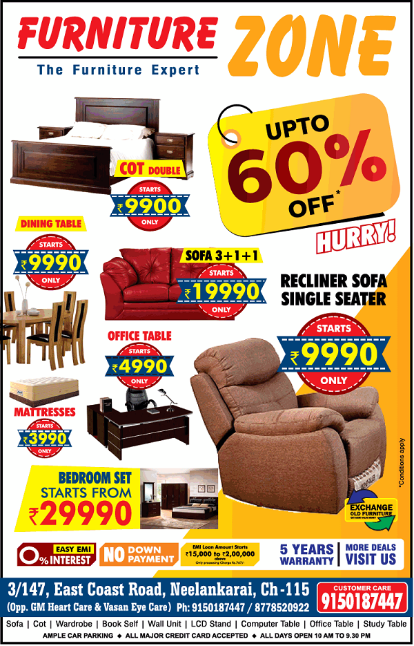 Furniture Zone offers India
