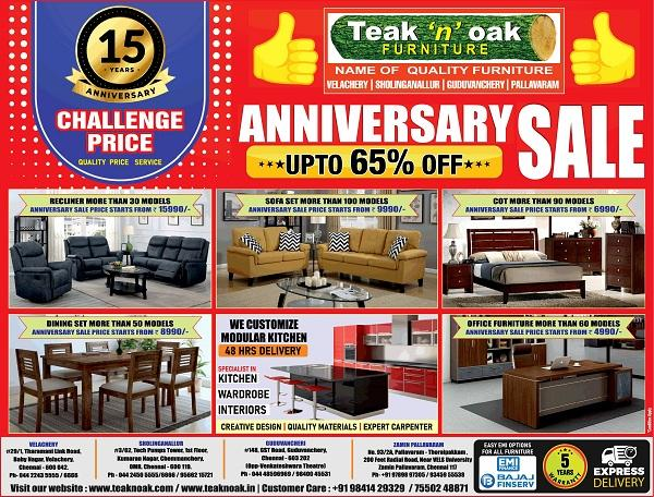 Teak N Oak offers India