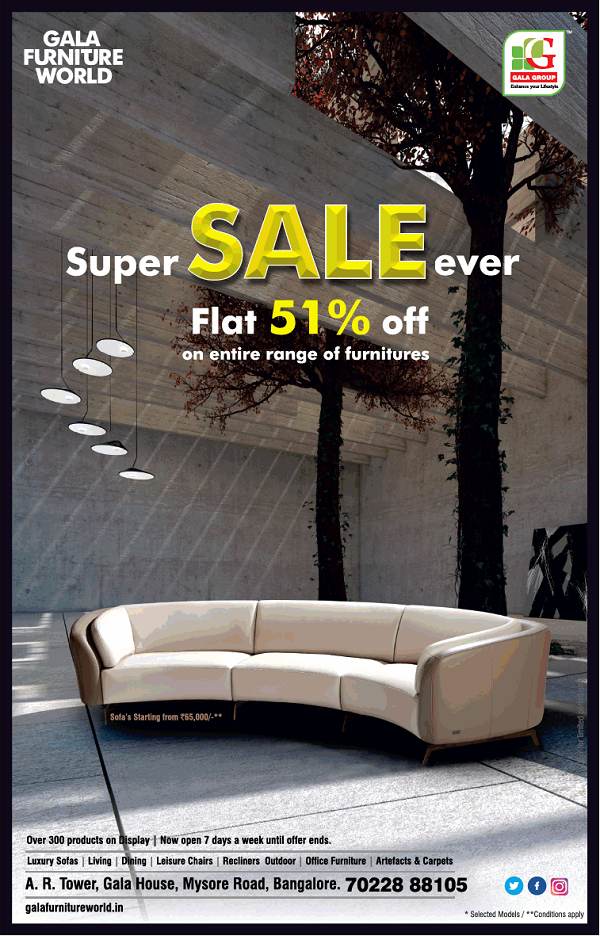 Gala Furniture World offers India
