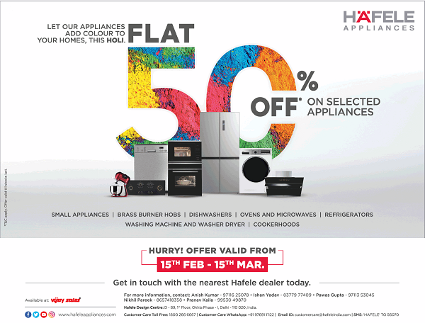 Hafele Appliances offers India