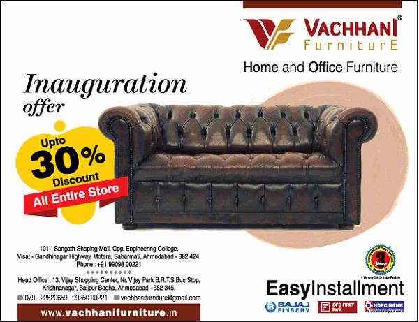 Vachhani Furniture offers India