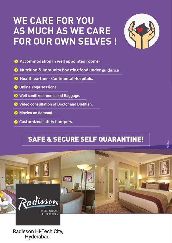 Radisson Hitech City offers India