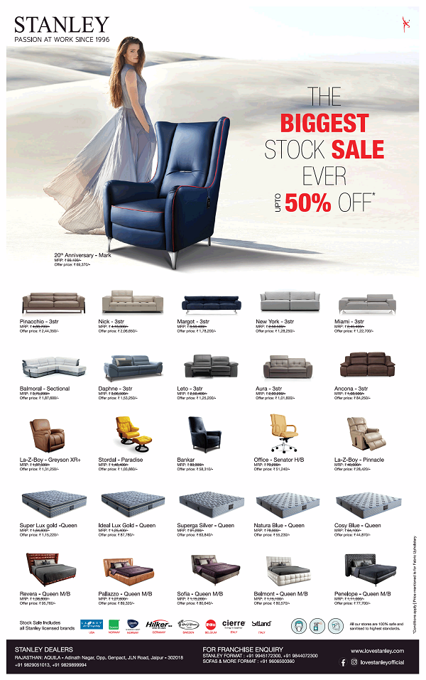 Stanley Lifestyles offers India