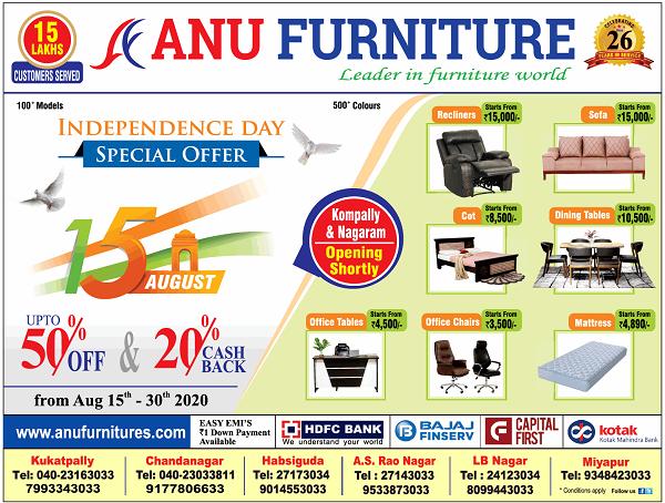 Anu Furniture offers India